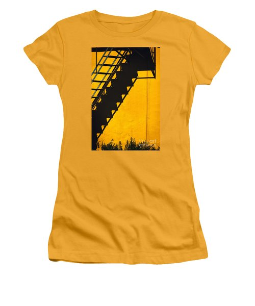 Women's T-Shirt (Junior Cut) featuring the photograph Staircase Shadow by Silvia Ganora