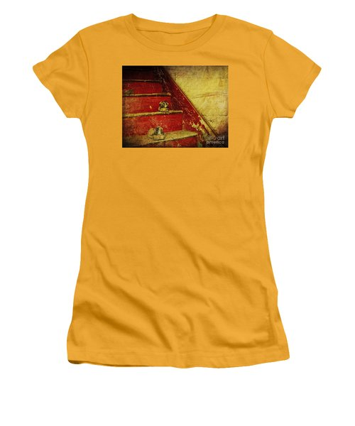 Women's T-Shirt (Junior Cut) featuring the photograph Step Back In Time by Debra Fedchin