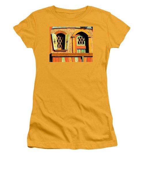 Storybook Window And Door Women's T-Shirt (Junior Cut) by Rodney Lee Williams
