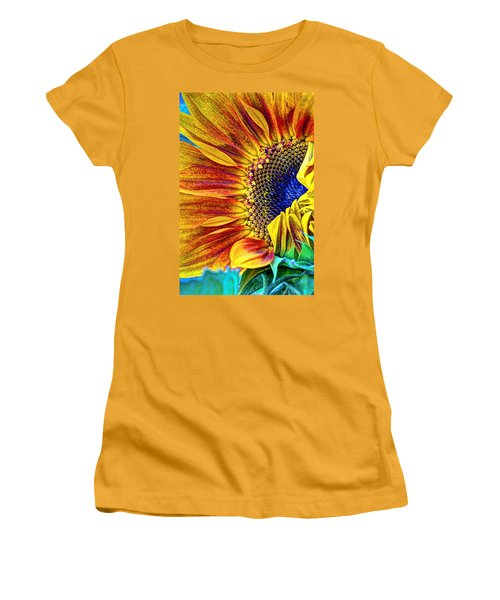Sunflower Abstract Women's T-Shirt (Athletic Fit)