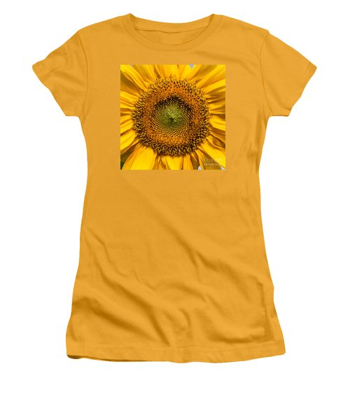 Sunflower Closeup Women's T-Shirt (Junior Cut) by Carsten Reisinger