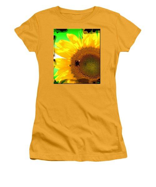 Women's T-Shirt (Junior Cut) featuring the digital art Sunflower by Daniel Janda