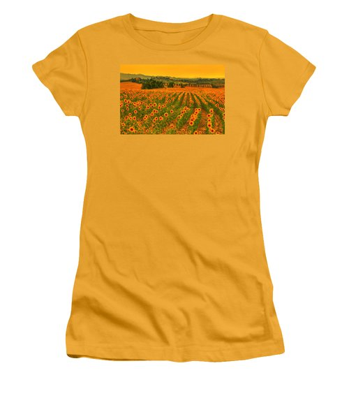 Sunflower Dream Women's T-Shirt (Athletic Fit)