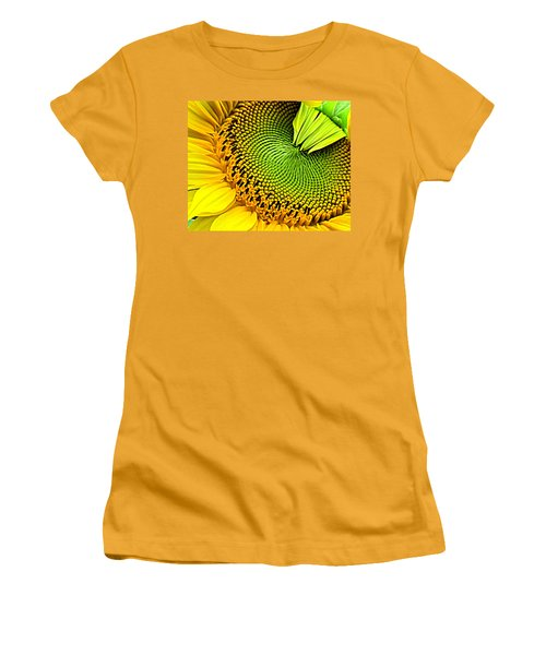 Sunflower Kaleidescope Women's T-Shirt (Athletic Fit)