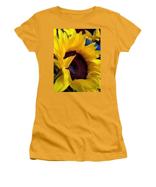 Women's T-Shirt (Junior Cut) featuring the photograph Sunflower Sunny Yellow In New Orleans Louisiana by Michael Hoard