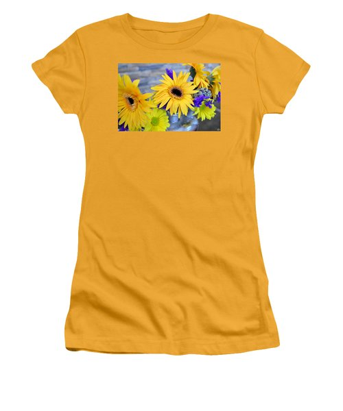 Women's T-Shirt (Junior Cut) featuring the photograph Sunny Days by Ally  White