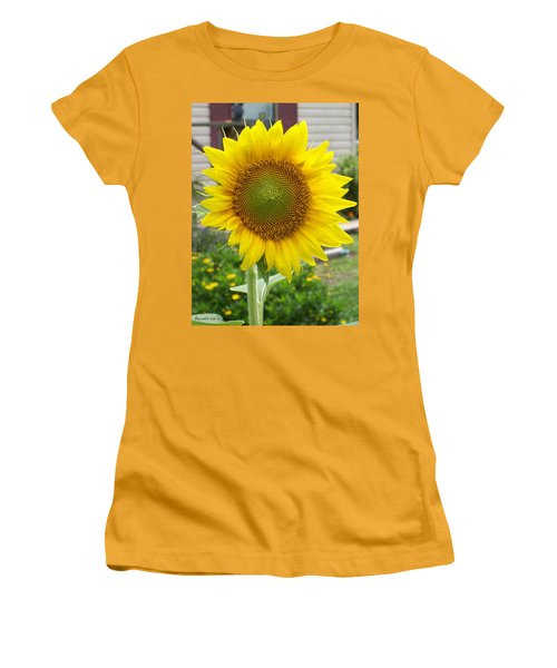 Women's T-Shirt (Junior Cut) featuring the photograph Bright Sunflower Happiness by Belinda Lee