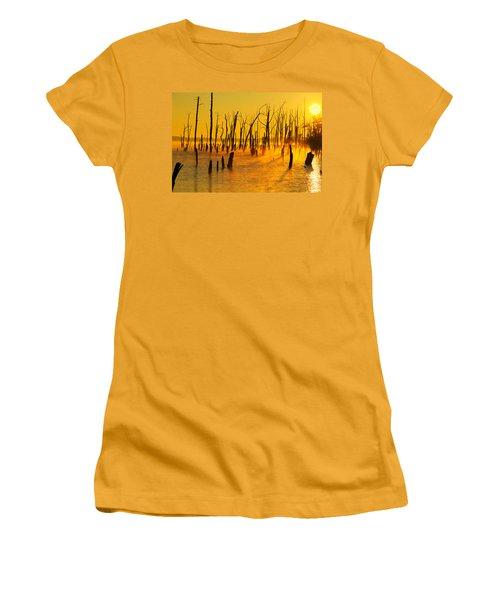 Sunrise Fog Shadows Women's T-Shirt (Athletic Fit)