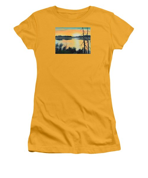 Sunset Women's T-Shirt (Junior Cut) by Remegio Onia