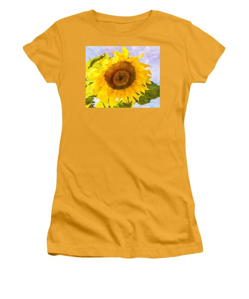 Sweet Sunflower Women's T-Shirt (Junior Cut) by Arlene Carmel