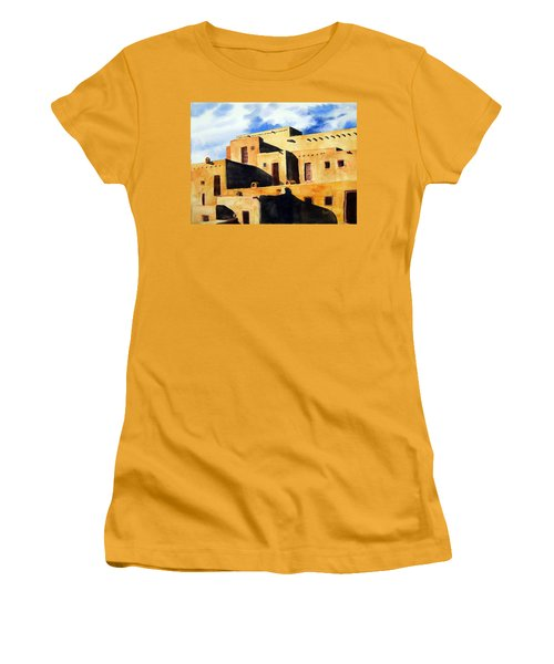 Taos Pueblo Women's T-Shirt (Athletic Fit)