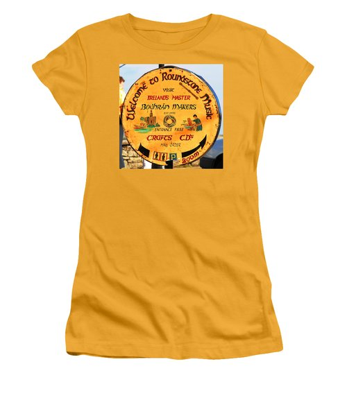 The Bodhran Makers Women's T-Shirt (Junior Cut) by Charlie and Norma Brock
