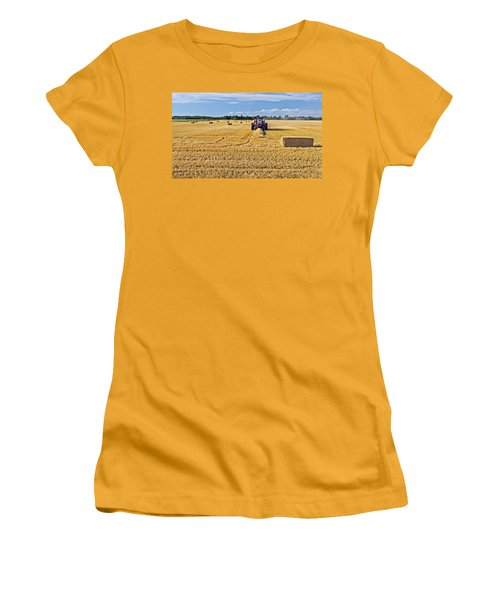 Women's T-Shirt (Junior Cut) featuring the photograph The Harvest by Keith Armstrong