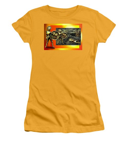 Women's T-Shirt (Junior Cut) featuring the relief The Legends Of Troy. . .  by Hartmut Jager