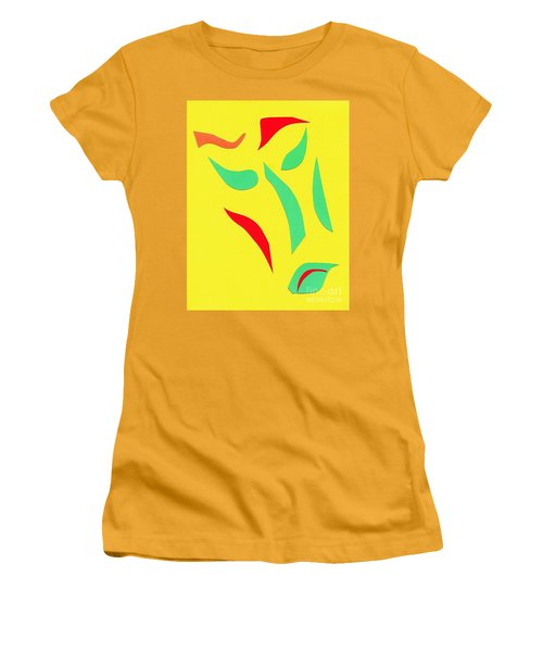 Women's T-Shirt (Junior Cut) featuring the mixed media The Mask by Delin Colon