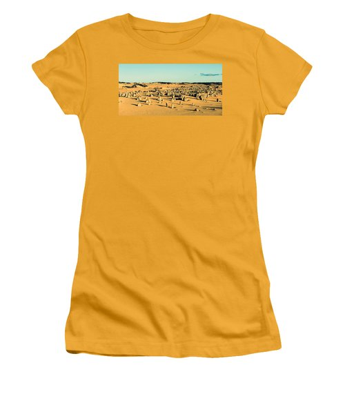 Women's T-Shirt (Junior Cut) featuring the photograph The Pinnacles Australia by Yew Kwang