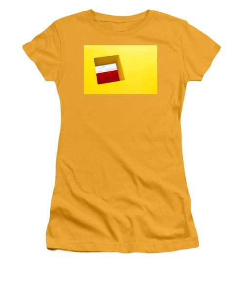 the Red Rectangle Women's T-Shirt (Athletic Fit)