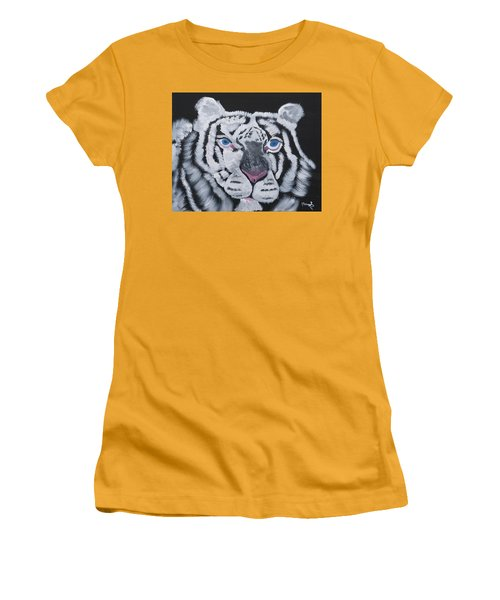 Jungle Eyes Women's T-Shirt (Junior Cut) by Meryl Goudey