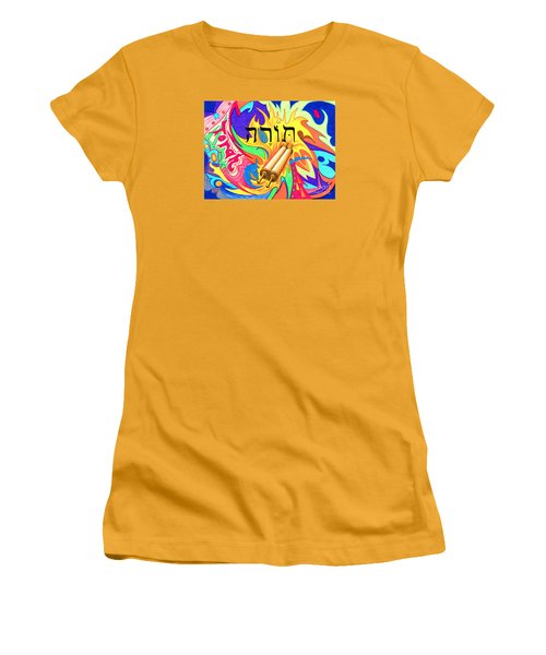 Torah Women's T-Shirt (Junior Cut) by Nancy Cupp