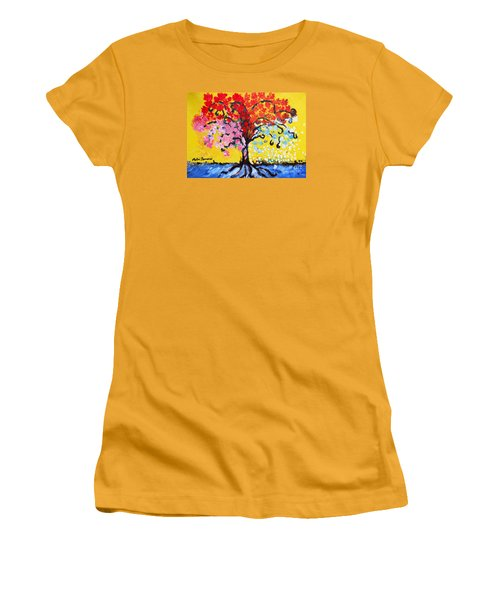 Tree Of Life Women's T-Shirt (Junior Cut) by Ramona Matei