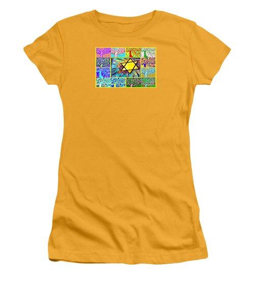 -tree Of Life Star Women's T-Shirt (Junior Cut) by Sandra Silberzweig
