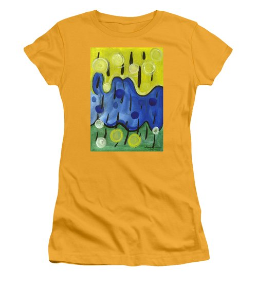 Women's T-Shirt (Junior Cut) featuring the painting Tropical Rain by Stephen Lucas