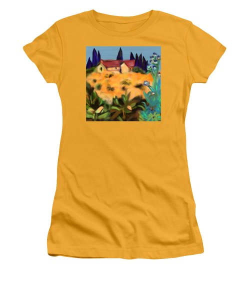 Tropical View Women's T-Shirt (Junior Cut) by Christine Fournier