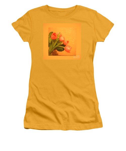 Tulips Duvet Women's T-Shirt (Athletic Fit)