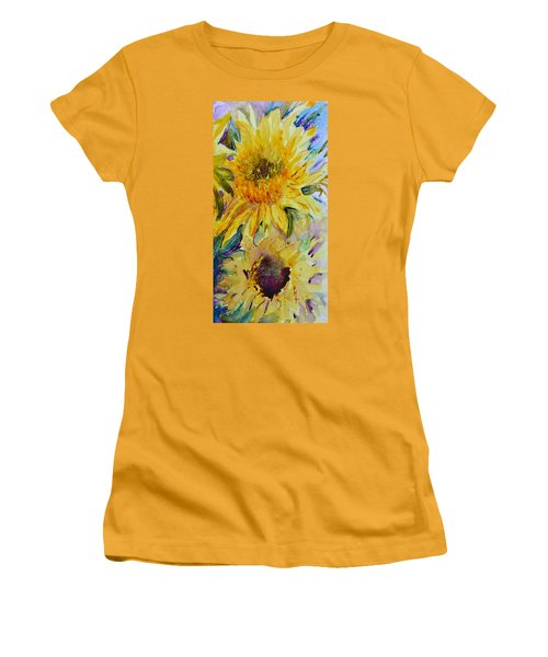Two Sunflowers Women's T-Shirt (Athletic Fit)
