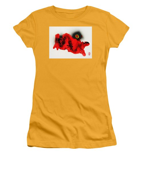 Women's T-Shirt (Junior Cut) featuring the painting Undo To Seishin by Roberto Prusso