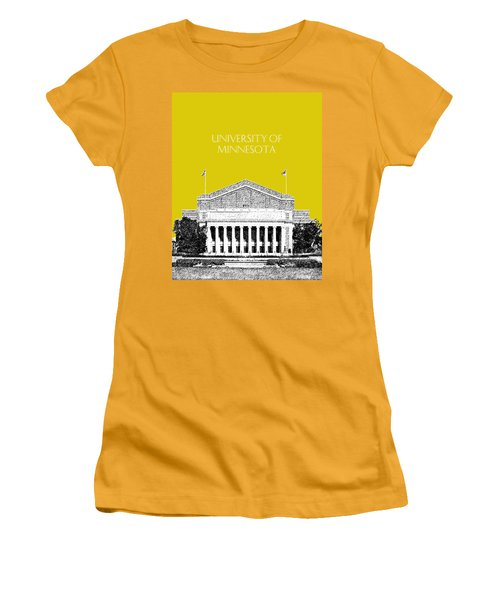 University Of Minnesota 2 - Northrop Auditorium - Mustard Yellow Women's T-Shirt (Athletic Fit)
