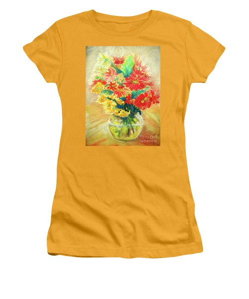 Women's T-Shirt (Junior Cut) featuring the painting Vase by Jasna Dragun