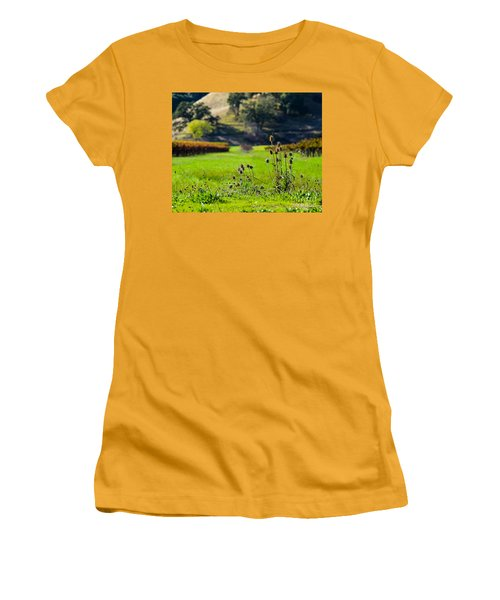 Vineyard Thistles Women's T-Shirt (Athletic Fit)