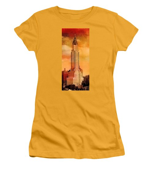 Vintage Chrysler Building Women's T-Shirt (Athletic Fit)
