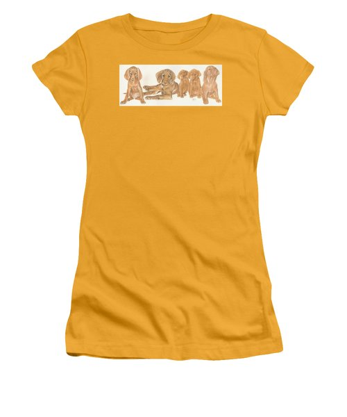 Vizsla Puppies Women's T-Shirt (Athletic Fit)