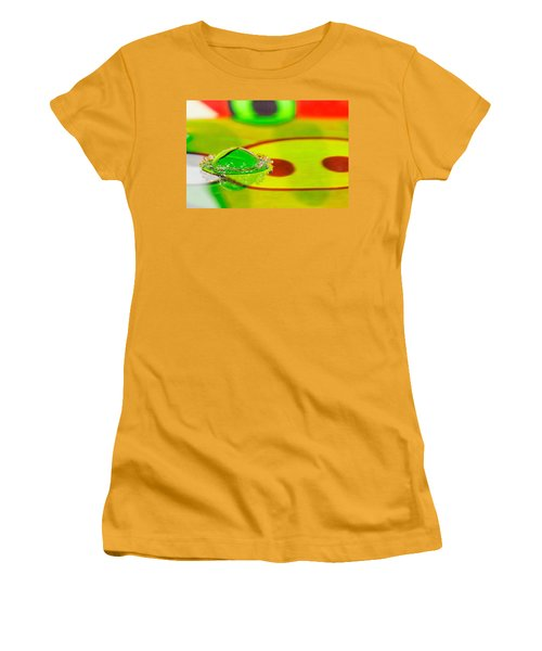 Women's T-Shirt (Junior Cut) featuring the photograph Water Crown by Peter Lakomy