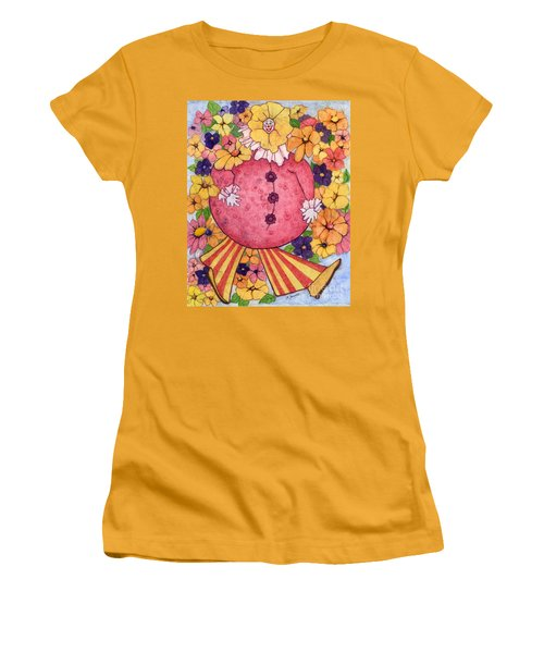 Women's T-Shirt (Junior Cut) featuring the painting Whimsy On Parade  by Barbara Jewell