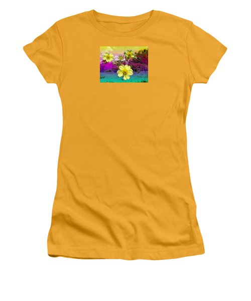 Wildflower Abstract Women's T-Shirt (Athletic Fit)