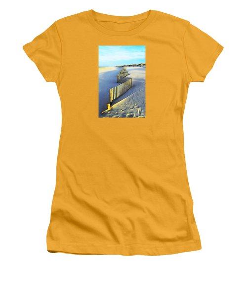 Windswept At Sunset - Jersey Shore Women's T-Shirt (Junior Cut) by Joseph J Stevens