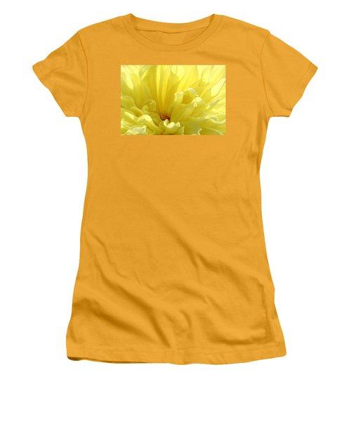 Yellow Dahlia Burst Women's T-Shirt (Junior Cut) by Ben and Raisa Gertsberg
