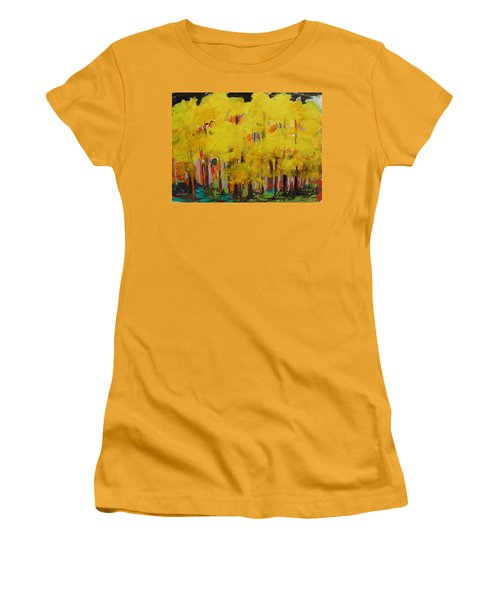 Yellow Refreshment Women's T-Shirt (Athletic Fit)