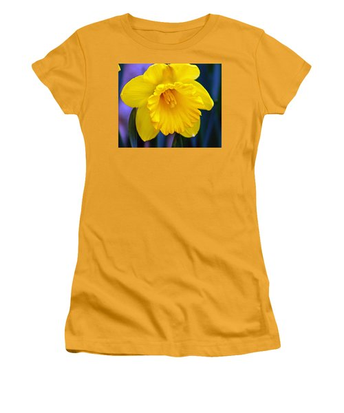 Women's T-Shirt (Junior Cut) featuring the photograph Yellow Spring Daffodil by Kay Novy