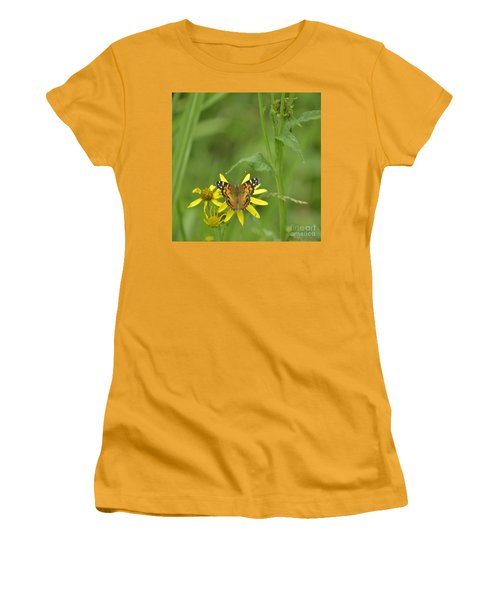 American Painted Lady Women's T-Shirt (Athletic Fit)