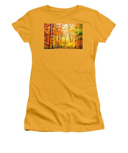 Women's T-Shirt (Junior Cut) featuring the photograph Autumn Forest by Randall Branham