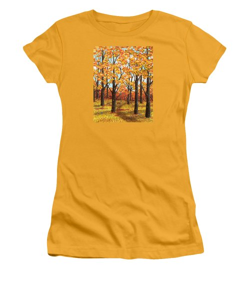 Autumn Meadow Women's T-Shirt (Athletic Fit)