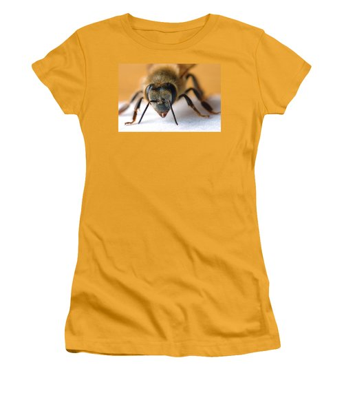 Bee In Macro 4 Women's T-Shirt (Junior Cut) by Micah May