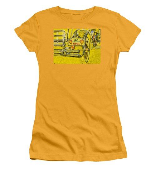 Eat Washington Apples Women's T-Shirt (Junior Cut) by Anne Mott