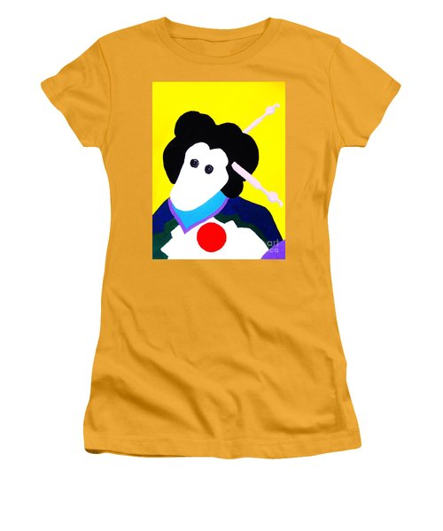 Festival Doll With Shoe Button Eyes Women's T-Shirt (Junior Cut) by Roberto Prusso