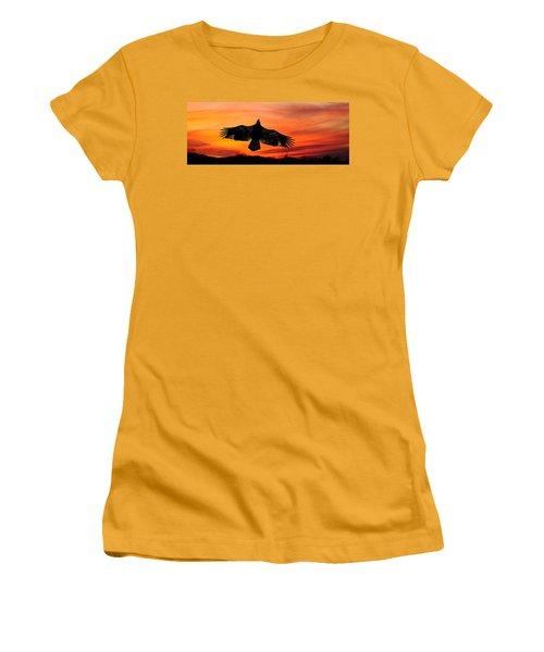 Women's T-Shirt (Junior Cut) featuring the photograph Juvenile Sunset  by Randall Branham
