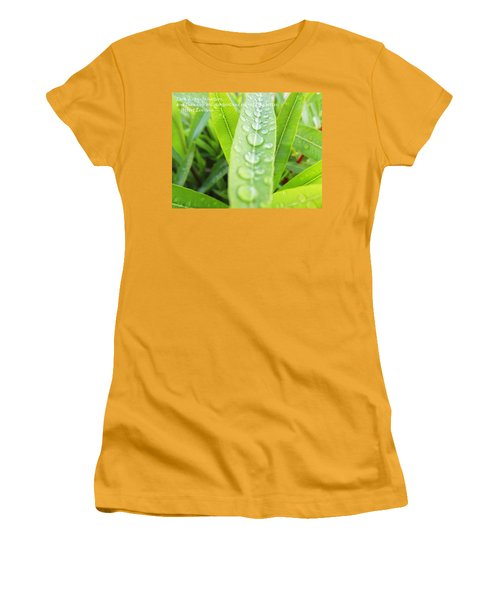 Look Deep Into Nature Women's T-Shirt (Junior Cut) by Anne Mott